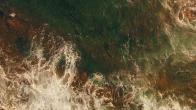 海波浪和泡沫 股票视频
