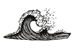 海波浪有泡沫的 免版税库存图片