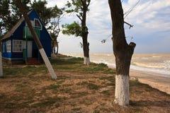 海波浪海滩 库存图片