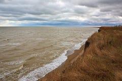 海波浪海滩 免版税图库摄影