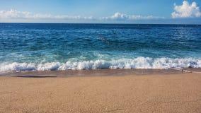 海波浪,海浪 免版税图库摄影
