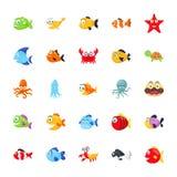 海洋动物组装 向量例证