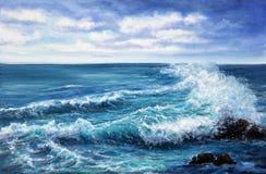 海洋和波浪 免版税库存照片