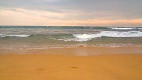 海洋和海滩在斯里兰卡 股票录像