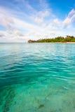海洋和热带海岛的横向 图库摄影