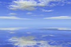 海洋天空waterscape 库存例证