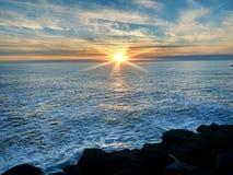 海洋太平洋日落 库存照片