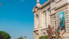 海洋学博物馆的看法摩纳哥timelapse的 股票录像