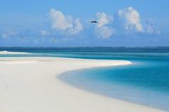海洋平静的视图 库存图片