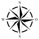 海洋或船舶航海的在被隔绝的白色背景的罗盘和地图作为传染媒介 免版税图库摄影