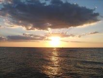 海洋日落002 图库摄影
