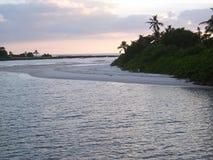 海洋日落007 免版税图库摄影