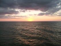 海洋日落012 库存图片