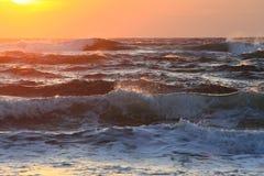 海洋日落 免版税库存照片