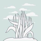海洋植物生态系场面 向量例证