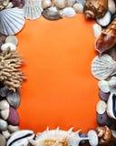 海洋橙色明信片 库存照片