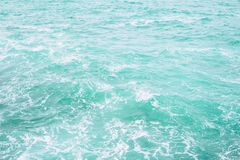 海洋水表面纹理 深海波浪关闭  库存照片