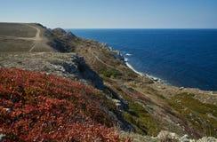海洋海岸线在秋天 图库摄影