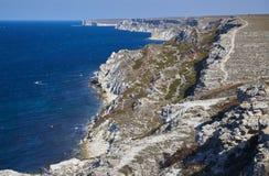 海洋海岸线峭壁 免版税库存图片