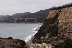海洋海滩和峭壁点雷耶斯加利福尼亚 图库摄影