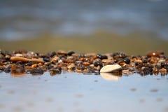 海洋海运石头视图通知 库存照片