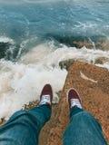 海洋的最后的路 库存照片
