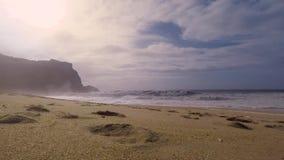 海洋的横向 在大西洋的波浪 影视素材