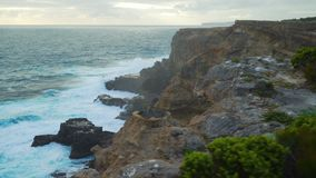 海洋的看法在海角纳尔逊国家公园在维多利亚,澳大利亚 股票录像