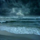 海洋的风暴 免版税库存照片