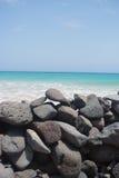 海洋石墙 库存照片