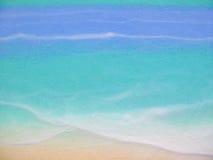 海洋被绘的场面墙壁 免版税库存图片