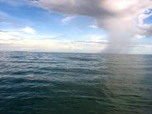 海洋雨 库存照片