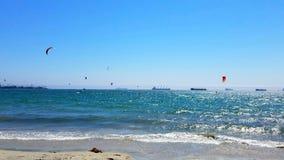 海洋风筝冲浪 库存照片