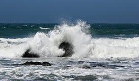 海洋飞溅通知 免版税图库摄影