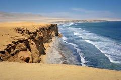 海洋paracas秘鲁视图 库存照片