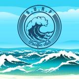 海浪俱乐部 库存照片