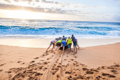 海浪发射 库存照片