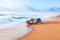 海浪发射 库存图片