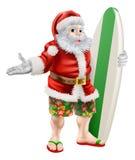 海浪圣诞老人 免版税库存照片