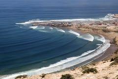 海浪斑点在摩洛哥 库存图片