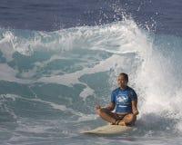 海浪瑜伽 库存图片
