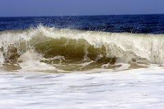 海浪白色 免版税库存照片
