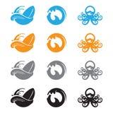 海浪章鱼 库存图片