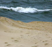 海浪进来  免版税库存图片