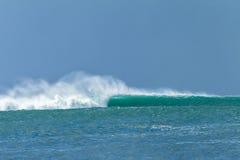 海浪风暴碰撞 免版税图库摄影