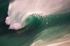 海浪鸟瞰图 免版税库存照片