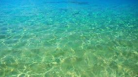 海浪,在水,水色背景的纹理 免版税图库摄影
