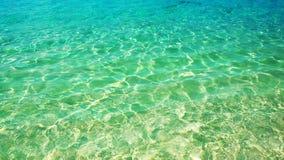 海浪,在水,水色背景的纹理 库存照片