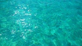 海浪,在水,水色背景的纹理 库存图片