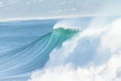 海浪水墙壁 库存照片